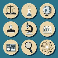 Chemistry flat icons