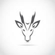 Vector image of an barking deer