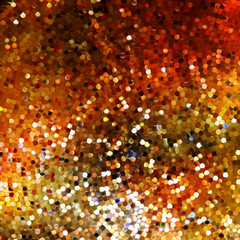 Design on gold glittering background. EPS 10