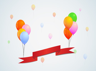 balloons and ribbon
