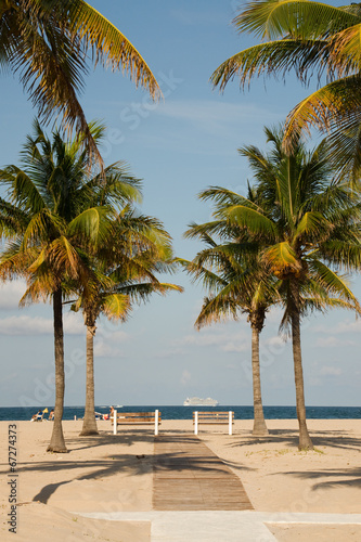 canvas print picture Beach, Weg, Florida, USA, Amerika, Sandstrand,