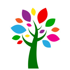 TREE icon (symbol leaves icons silhouette)
