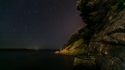 Moving Stars in the Sky, Timelapse Video, Croatia