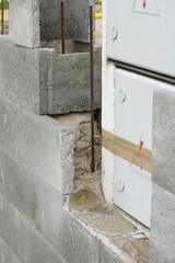 electrical box building concrete wall