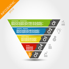 colorful infographic reversed pyramid
