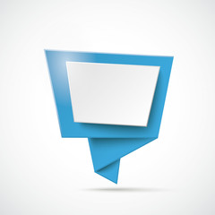 Blue Origami Speech Bubble