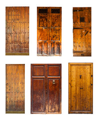Set of Vintage wooden doors.