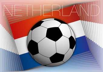 netherland flag with soccer ball