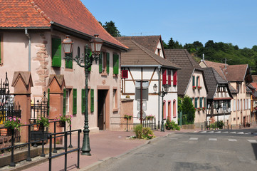 alsace, the picturesque village of Bœrsch