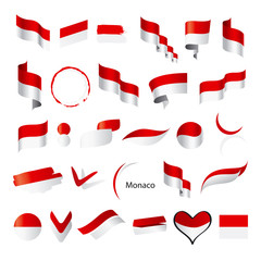 biggest collection of vector flags of Monaco