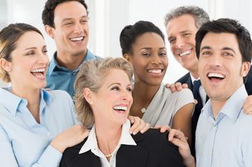 Happy Businesspeople Celebrate
