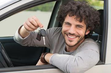 Man Showing Car Key