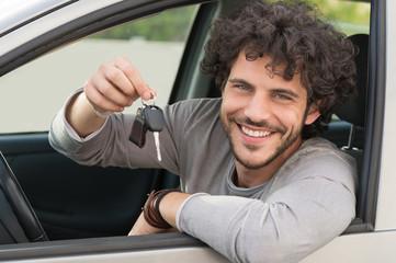 Man Showing Car Key