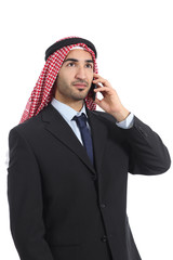 Arab saudi businessman talking on the mobile phone