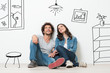 Leinwanddruck Bild - Happy Couple Dream New Home