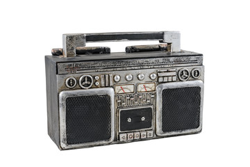 A retro tape recorder