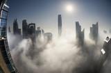 Fototapeta Dubai skyline in fog