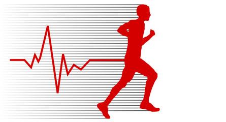 Jogger rot EKG