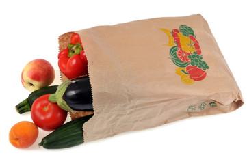 Sac de fruits et légumes