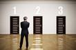 canvas print picture - Geschäftsmann muss wählen