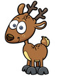 Vector illustration of Deer cartoon