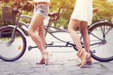 Part of boho girls ready to cycling poster