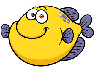 Vector illustration of Fish cartoon