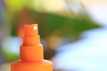 Spray crème solaire