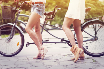 Part of boho girls ready to cycling