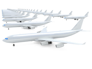White airplanes