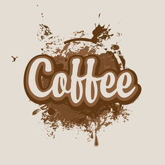 background of coffee stains and splashes