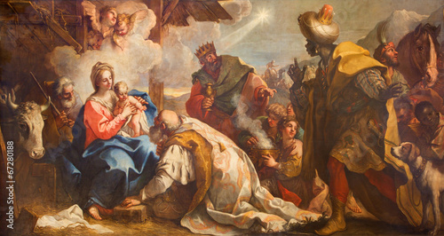 Tuinposter Venetie Venice - Adoration of Magi in San Zaccaria church.