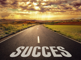 Concept of the road to success and better future.