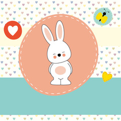 cute bunny, greeting card