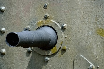 Detail of first world war tank gun