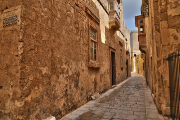 Malta, the picturesque city of Mdina