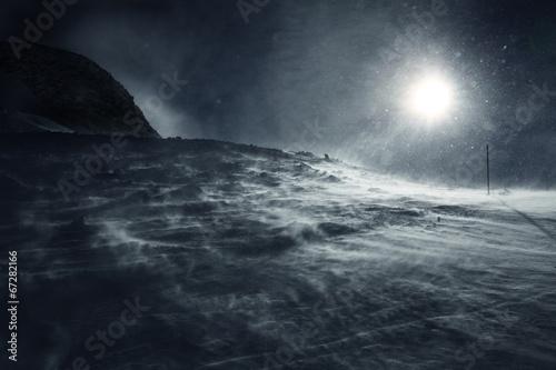 canvas print picture Schneesturm