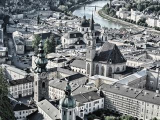 Beautiful cityscape of Salzburg, Austria