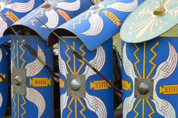 Roman shields in defence formation