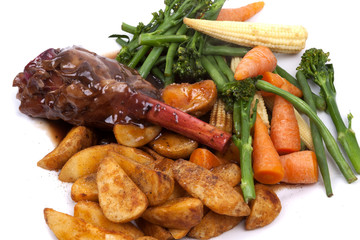 Lamb Shank with vegetable