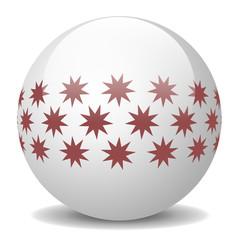 Weiße Weihnachtskugel mit Sternen