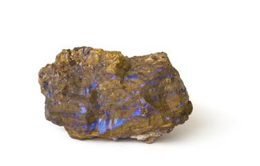 Rough boulder opal. 6.3cm across.