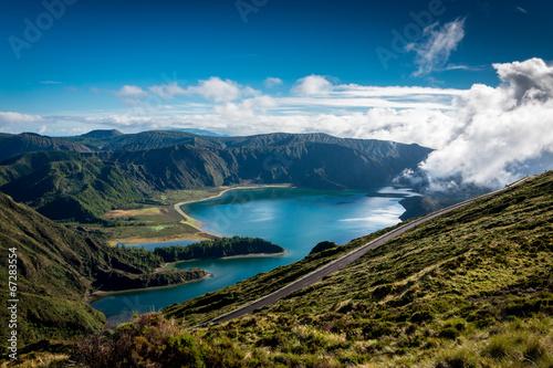 canvas print picture Bergsee Natur Urlaub