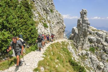 Trekking-Tour im Gebirge