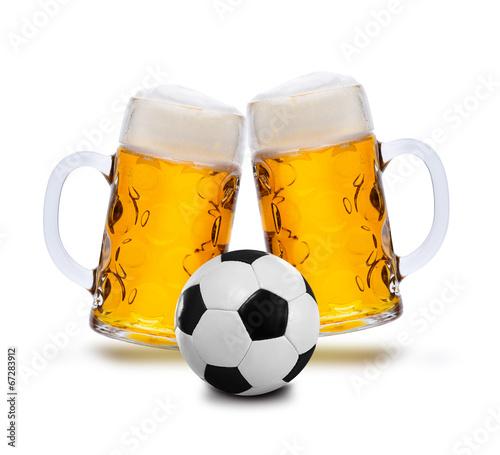 Fotobehang Bier Fußball und Bier