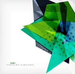 Abstract sharp angles background