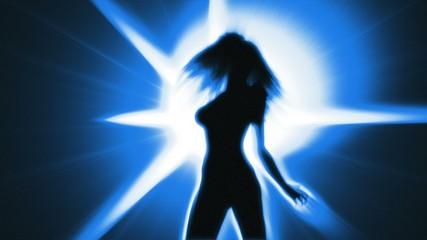 Sexy Dancing Girl (Strobe light)