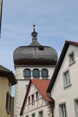 Ein Kirchendach in Bregenz