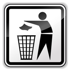 Vector trash icon