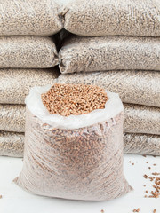 store of wood pellets